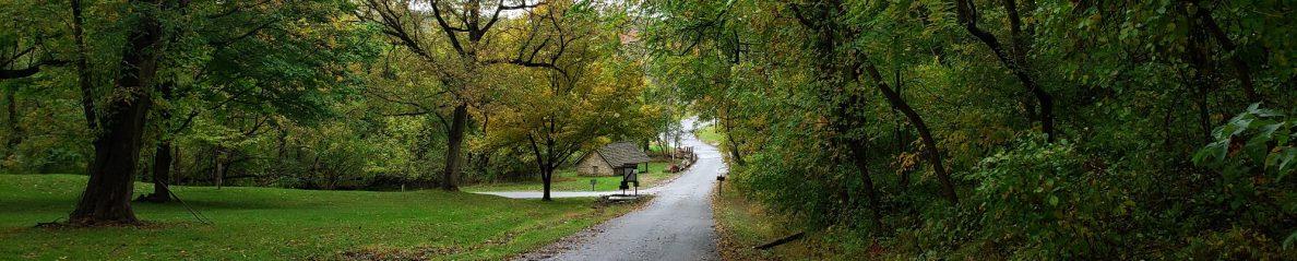 The road to Oregon Ridge Lodge, Cockeysville, by Vic Sanborn