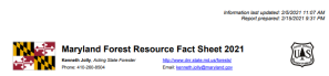 Logo of Maryland Forest Resource Fact Sheet 2021