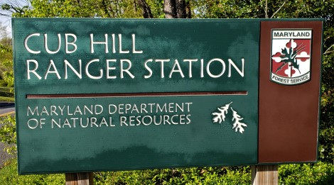 Sign to the Cub Hill Ranger Station